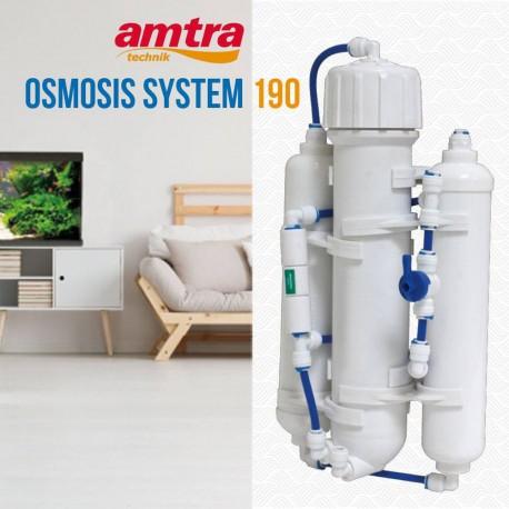 Amtra Osmosis System 190 Impianto d'Osmosi Inversa con Flushing valve per Acquario