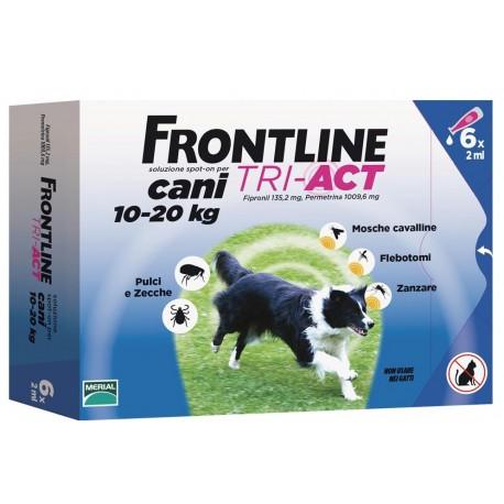 Frontline Tri Act 10-20 Kg Antiparassitario per Cani 6 fiale