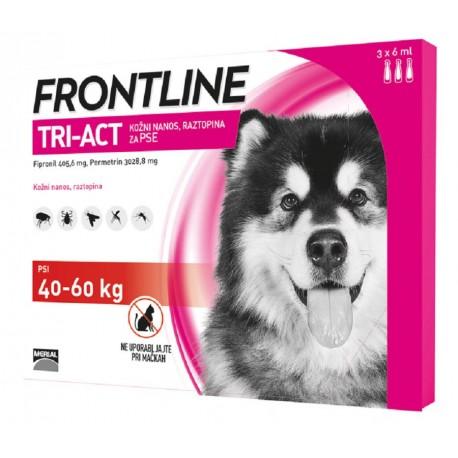 Frontline Tri Act 40-60 Kg Antipassitario per Cani 3 fiale