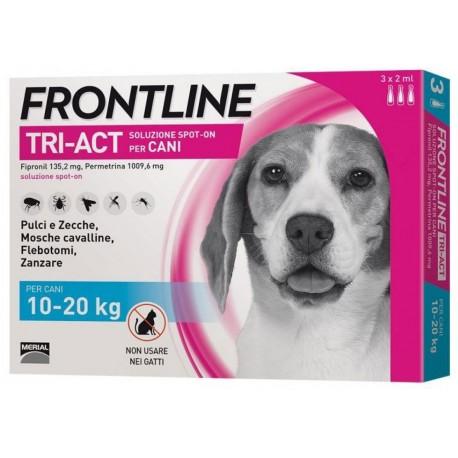 Frontline Tri Act 10-20 Kg Antipassitario per Cane 3 fiale
