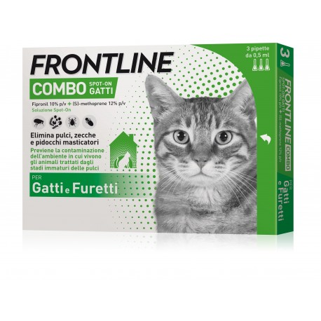 Frontline Combo Spot on Gatti 3 Pipette Antiparassitario