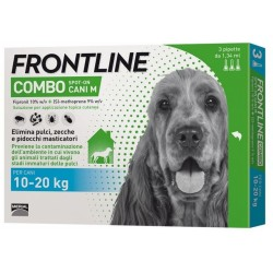 Antiparassitario Frontline Combo Spot on Cani 10 - 20 Kg 3 fiale