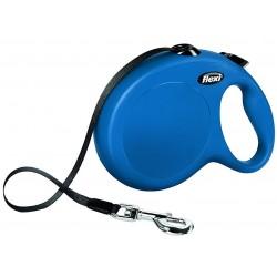 Flexi Guinzaglio Allungabile Blu Large con Fettuccia per Cane fino a 50 Kg