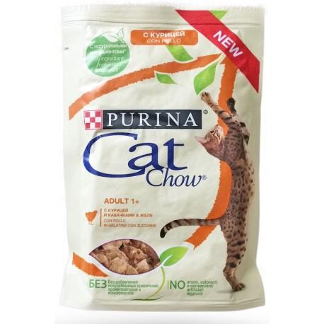 Purina Cat Chow con Pollo in gelatina e Zucchine 85 gr Cibo per Gatti