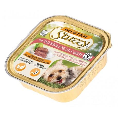 Mister Stuzzy Dog con Tacchino, Piselli e Carote 150 gr
