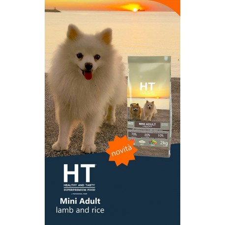 HT Dog Mini Adult Agnello e Riso 2 kg Crocchette per Cani