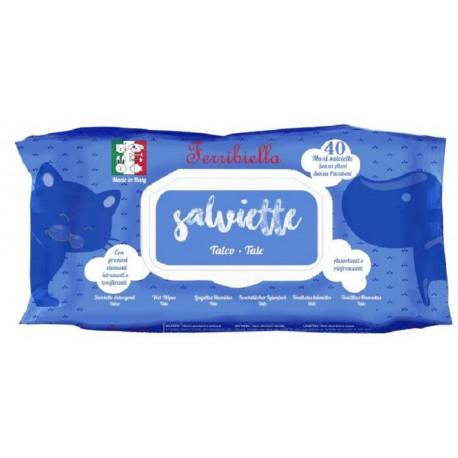 Ferribiella 40 Maxi Salviette Igieniche al Talco per Cane e Gatto