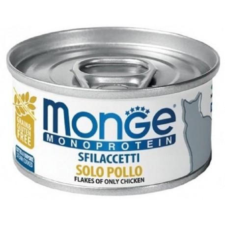 Monge Monoprotein Sfilaccetti solo Pollo Cibo per Gatto 80 gr