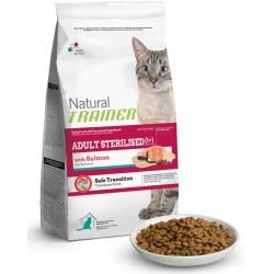 Trainer Natural Adult Sterilised con Salmone Kg 12,5 croccantini gatto