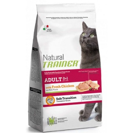 Trainer Natural Adult Cat con pollo Kg12,5 Croccantini gatto Formato Convenienza