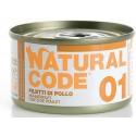 Natural Code 01 Filetti di Pollo Scatoletta di Umido per Gatti 85 gr