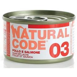 Natural Code 03 Pollo e Salmone Scatoletta di Umido per Gatti 85 gr