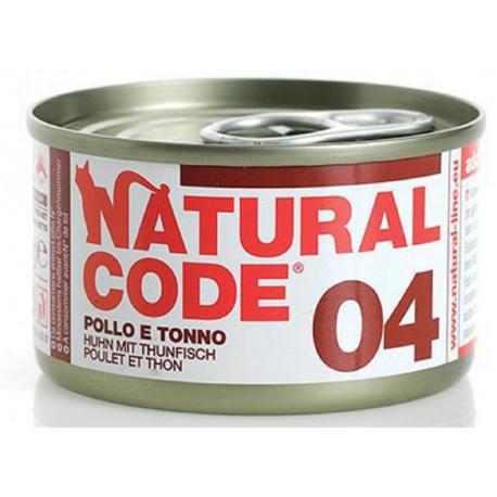 Natural Code 04 Pollo e Tonno Scatoletta di Umido per Gatti 85 gr