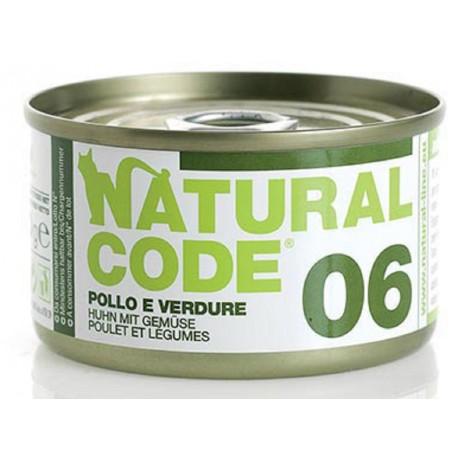 Natural Code 06 Pollo e Verdure Scatoletta di Umido per Gatti 85 gr
