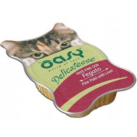 Oasy Delicatesse Patè con Fegato 85 gr Alimento Umido in Vaschetta per Gatti