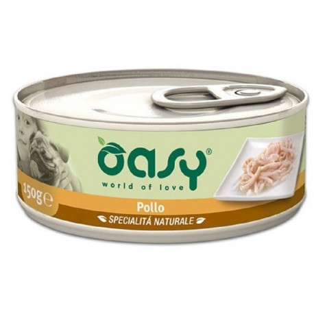 Oasy Wet Dog Pollo Lattina 150 gr Cibo per Cane