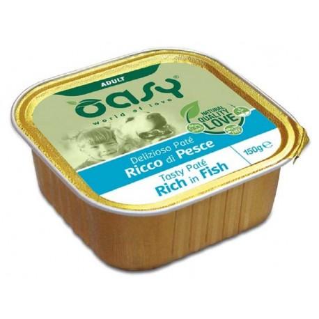 Oasy Patè Ricco di Pesce per Cane Vaschetta 150 gr