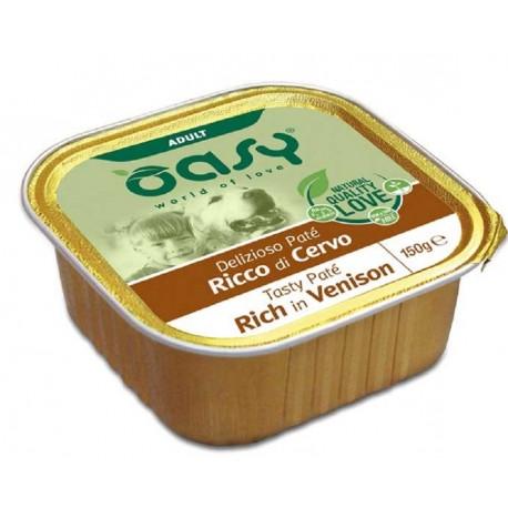 Oasy Patè Ricco di Cervo per Cane Vaschetta 150 gr