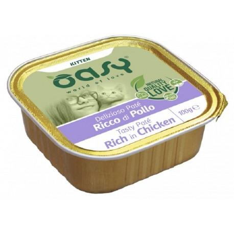 Oasy Patè Ricco di Pollo per Gattini Vaschetta 100 gr