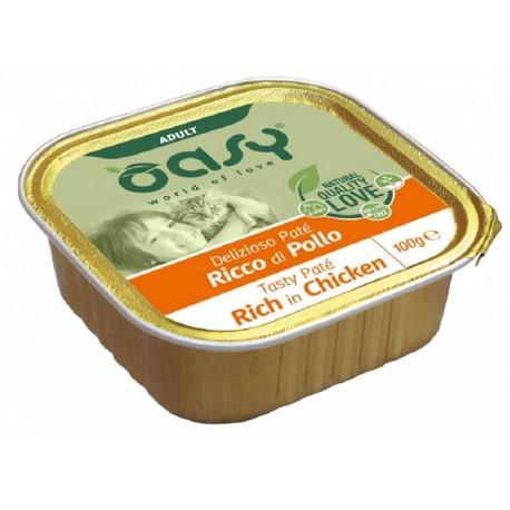 Oasy Patè Ricco di Pollo per Gatti Vaschetta 100 gr