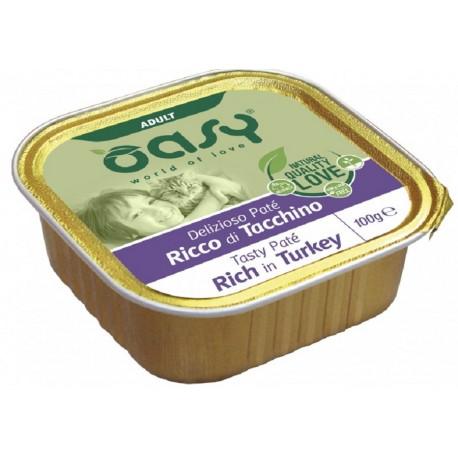 Oasy Patè Ricco di Tacchino per Gatti Vaschetta 100 gr
