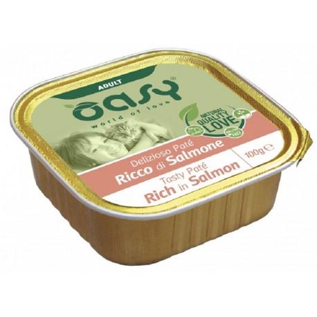 Oasy Patè Ricco di Salmone per Gatti Vaschetta 100 gr