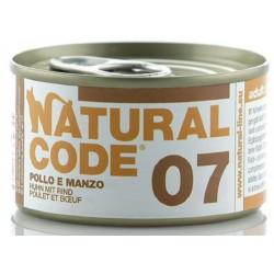 Natural Code 07 Pollo e Manzo Scatoletta di Umido per Gatti 85 gr
