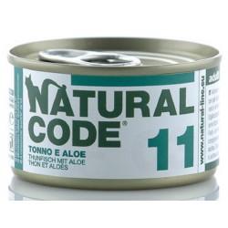 Natural Code 11 Tonno e Aloe Scatoletta di Umido per Gatti 85 gr