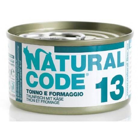 Natural Code 13 Tonno e Formaggio Scatoletta di Umido per Gatti 85 gr