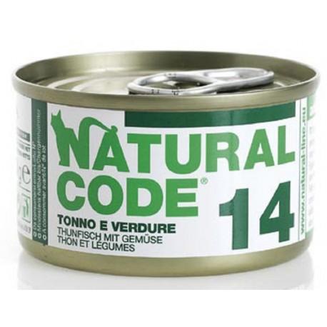 Natural Code 14 Tonno e Verdure Scatoletta di Umido per Gatti 85 gr