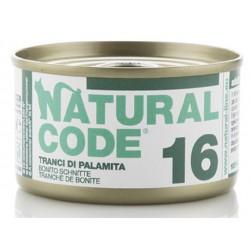 Natural Code 16 Tranci di Palamita Scatoletta di Umido per Gatti 85 gr