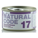 Natural Code 17 Pollo e Struzzo Scatoletta di Umido per Gatti 85 gr