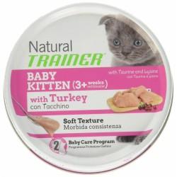 Natural Trainer Baby Kitten Con Tacchino Omogenizzato 80 gr per Gatti