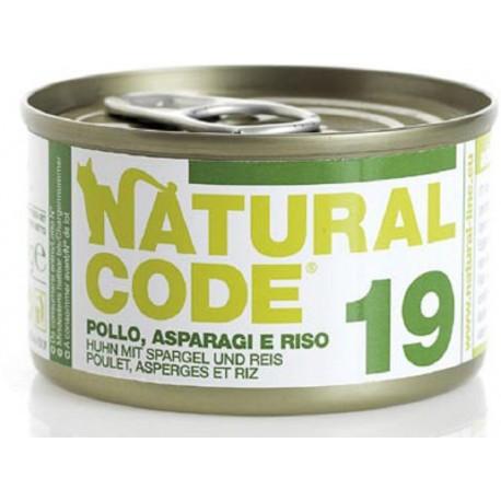 Natural Code 19 Pollo Asparagi e Riso Scatoletta di Umido per Gatti 85 gr