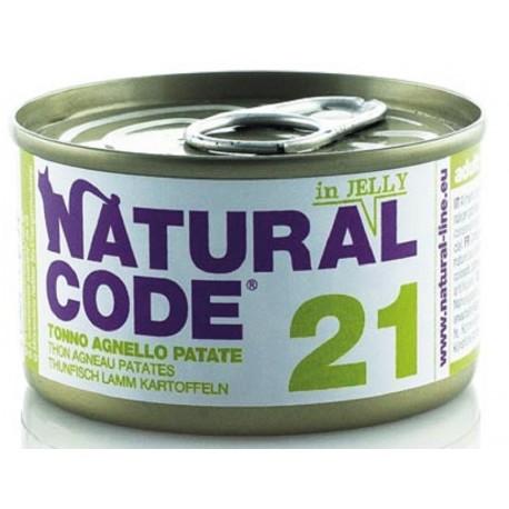 Natural Code 21 in Jelly Tonno Agnello e Patate Scatoletta di Umido per Gatti 85 gr