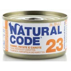 Natural Code 23 in Jelly Tonno Patate e Carote Scatoletta di Umido per Gatti 85 gr