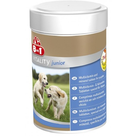 8in1 Vitality Junior Integratore Multivitaminico per Cuccioli 100 compresse
