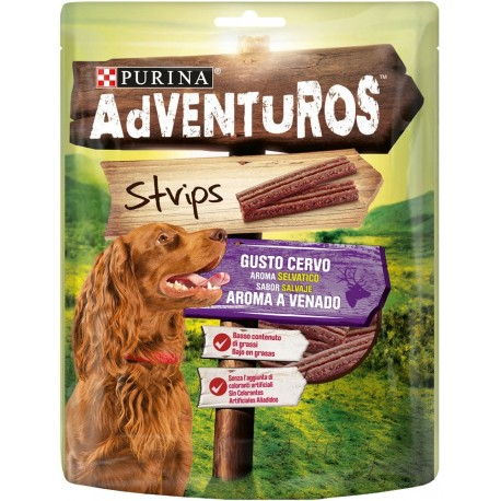 Purina Adventuros Strips al Cervo 90g Snack morbidi per Cani