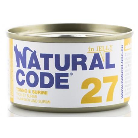 Natural Code 27 in Jelly Tonno e Surimi Scatoletta di Umido per Gatti 85 gr