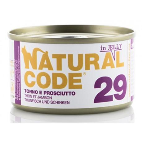 Natural Code 29 in Jelly Tonno e Prosciutto Scatoletta di Umido per Gatti 85 gr