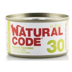 Natural Code 30 in Jelly Pollo e Tacchino Scatoletta di Umido per Gatti 85 gr