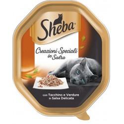 Sheba Creazioni Speciali In Salsa Tacchino e Verdure in Salsa Delicata 85 gr