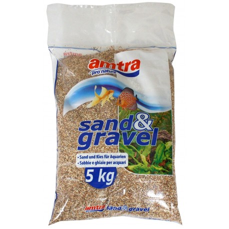 Sabbia Ghiaia Ambra 5kg Fondo per Acquario