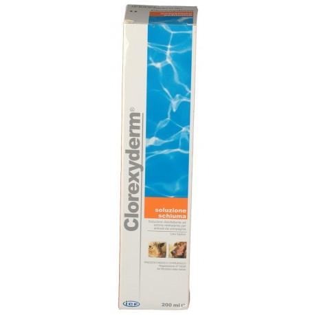 Clorexyderm 200 ml Soluzione Schiuma Disinfettante per Cane e Gatto