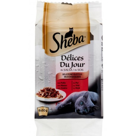 Sheba Delices Du Jour in Salsa Selezione Gustosa 6 x 50 gr