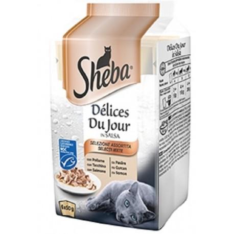 Sheba Delices Du Jour in Salsa Selezione Assortita 6 x 50 gr