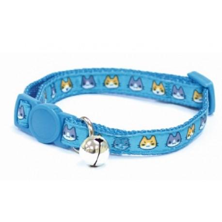 Croci Collare Regolabile per Gatto Catmania Manga Azzurro