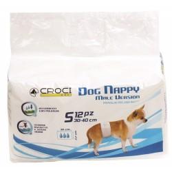 Dog Nappy Male Version S Fascia Elastica Pannolini Usa e Getta per Cani Maschi