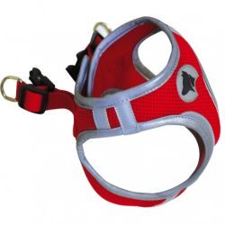 Hiking Pettorina Catarifrangente Medium Colore Rosso per Cane