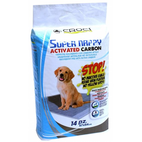 Super Nappy Activated Carbon Tappetini Assorbenti 57x54 cm per Cane